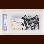 The Pony Line Autographed Card - Max Bentley, Bill Mosienko, Doug Bentley - The Broderick Collection - Deceased