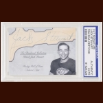 Jack Stewart Autographed Card - The Broderick Collection - Deceased