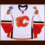 2012-13 Steve Begin Calgary Flames Game Worn Jersey – Team Letter