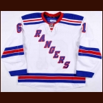 2014-15 Rick Nash New York Rangers Game Worn Jersey - Career Best 42-Goal Season - Photo Match – Team Letter