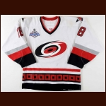 "2005-06 Mark Recchi Carolina Hurricanes Stanley Cup Finals Game Worn Jersey - ""2006 Stanley Cup Finals"" - Photo Match - Team Letter"