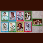 1973-74 Autographed Minnesota North Stars Card Group of 9