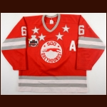 "1990-91 Brad Tiley Sault Ste. Marie Greyhounds Game Worn Jersey – ""1991 Memorial Cup"""