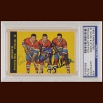 Monteal Canadiens Standouts 1960 Topps– Bill Hicke (Deceased), Ralph Backstrom & Ab McDonald – Autographed – PSA/DNA