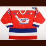 "1992-93 Jay Bertsch Lethbridge Hurricanes Game Worn Jersey – Rookie - ""75-year Memorial Cup"""