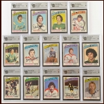 1976-77 OPC Autographed Card Group of (14) – All GAI Cerified – Deceased
