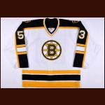 2005-06 Jason MacDonald Boston Bruins Pre-Season Worn Jersey – Team Letter