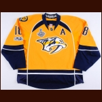 "2016-17 James Neal Nashville Predators Stanley Cup Finals Game Worn Jersey – ""2017 Stanley Cup Finals"" - Photo Match – Team Letter"