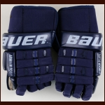 Chris Pronger St. Louis Blues Blue Bauer Game Worn Gloves