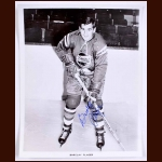 Barclay Plager Buffalo Bisons Autographed 8x10 B&W Photo - Deceased