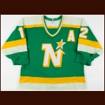 1986-87 Keith Acton Minnesota North Stars Game Worn Jersey