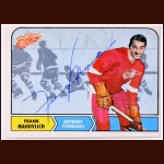 1968-69 Frank Mahovlich Detroit Red Wings Autographed Card