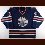 2002-03 Fernando Pisani Edmonton Oilers Game Worn Jersey – Rookie - Photo Match