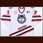 "1997-98 Todd Barclay Northeastern University Huskies Game Worn Jersey – ""100-year Anniversary"""