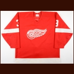 1989-90 Steve Chiasson Detroit Red Wings Game Worn Jersey - Autographed - Deceased