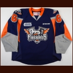 2015-16 Samuel Duchesne Flint Firebirds Game Worn Jersey - Inaugural Season