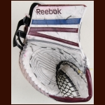 J.S. Giguere Colorado Avalanche White Reebok Game Worn Catcher