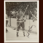 Keith McCreary Atlanta Flames 8x10 B&W Autographed Photo – Deceased