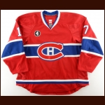 "2014-15 Eric Tangradi Montreal Canadiens Game Worn Jersey – ""Beliveau-4"" – Team Letter"