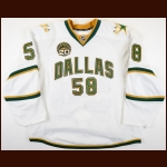 "2012-13 Jordie Benn Dallas Stars Game Worn Jersey – ""20-year Anniversary"" - Photo Match – Team Letter"