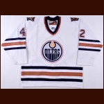 1999-00 Jeff Daw Edmonton Oilers Pre-Season Game Worn Jersey – Team Letter