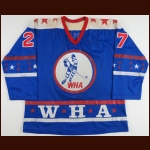 1974-75 Frank Mahovlich WHA All Star Game Worn Jersey – Family Letter