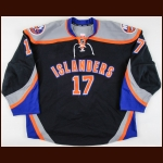2011-12 Matt Martin New York Islanders Game Worn Jersey – Alternate - Photo Match – Team Letter