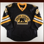2011-12 Tyler Seguin Boston Bruins Game Worn Jersey – Alternate – 2nd NHL Season – Photo Match – Team Letter