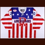 "2010-11 Bill Thomas Rochester Americans Game Worn Jersey – ""75-year AHL Anniversary"""
