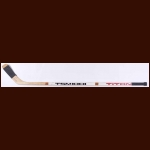 Mario Lemieux Pittsburgh Penguins White Titan Game Used Stick - 2nd NHL Season  - Autographed