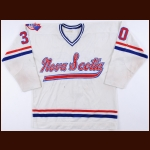 1980-81 Rick Wamsley Nova Scotia Voyageurs Game Worn Jersey - The Rick Wamsley Collection – Rick Wamsley Letter