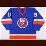 1983-84 Bryan Trottier New York Islanders Stanley Cup Finals Game Worn Jersey - Photo Match