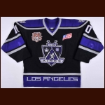 "2001-02 Mathieu Schneider Los Angeles Kings Game Worn Jersey – ""2002 All Star"" – AM - Photo Match – Team Letter"