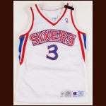1994-95 Dana Barros Philadelphia 76ers Game Worn Jersey – Memorial Armband