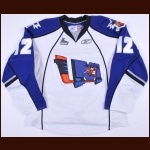 2010 Zachary Shannon Lewiston Mainiacs Game Worn Jersey