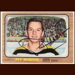 1966-67 Pit Martin Boston Bruins Autographed Card – Deceased
