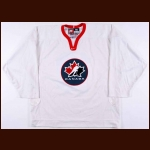 "2002 Brenden Morrow Team Canada Olympics Training Camp Worn Jersey - ""Respect"""