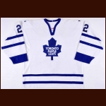 2001-02 Wade Belak Toronto Maple Leafs Game Worn Jersey – Team Letter