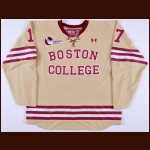 2014-15 Destry Straight Boston College Game Worn Jersey - Photo Match