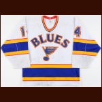 1986-87 Doug Wickenheiser St. Louis Blues Game Worn Jersey - Honored Number