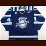 "2000-01 Guillaume Karrer Chicoutimi Sagueneens Game Worn Jersey – ""Carbonneau 21"""