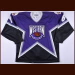"1994 Brett Hull NHL All Star Game Worn Jersey – ""1994 MSG NYC All Star Game"" - Brett Hull Letter"