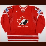 2010 Tyler Myers Team Canada World Championships Game Worn Jersey - Photo Match - Team Canada Letter
