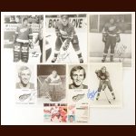 Detroit Red Wings Autographed Group of (62) – Includes Hall of Famers and Deceased