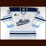 "2002-03 Matt Greyeyes University of Maine Game Worn Jersey – ""SW"""