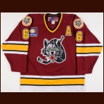 2002-03 Dallas Eakins Chicago Wolves Game Worn Jersey