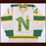 1967-68 Murray Hall Minnesota North Stars Game Worn Jersey - 1st ever set of North Stars Gamers - Photo Match