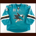 2013-14 Tyler Kennedy San Jose Sharks Game Worn Jersey