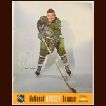 Bill Hicke Single Signed October 10, 1968 California Golden Seals Full Program - Opening Night of the Seals 2nd NHL Season - Deceased