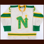 1967-68 Len Lunde Minnesota North Stars Pre-Season Game Worn Jersey - Retired Number